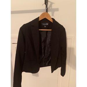 Forever 21 work blazer black